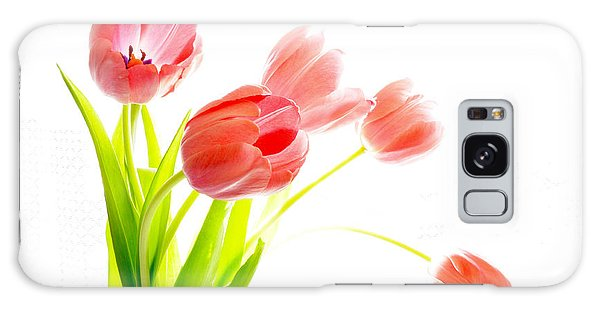 Tulips Flower Bouque In Digital Watercolor Galaxy Case