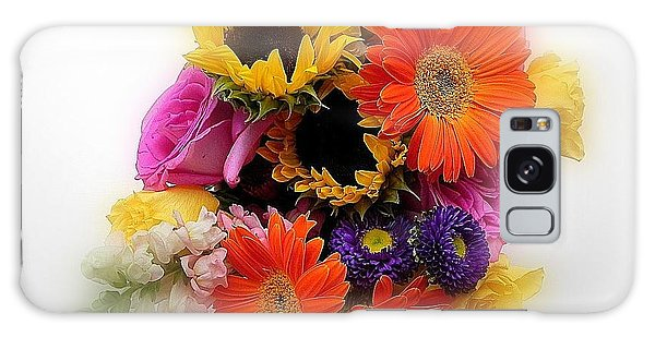 Bouquet Of Color Galaxy Case by Peggy Stokes
