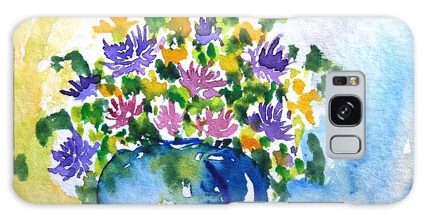 Bouquet Of Flowers In A Vase Galaxy Case