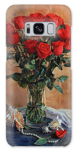 Bouquet Of Red Roses On The Birthday Galaxy Case