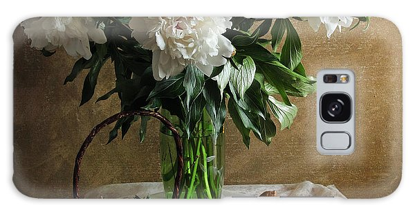Bouquet Peonies Flowers Galaxy Case