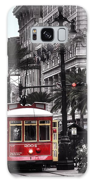 Bourbon And Canal Trolley Cropped Galaxy Case