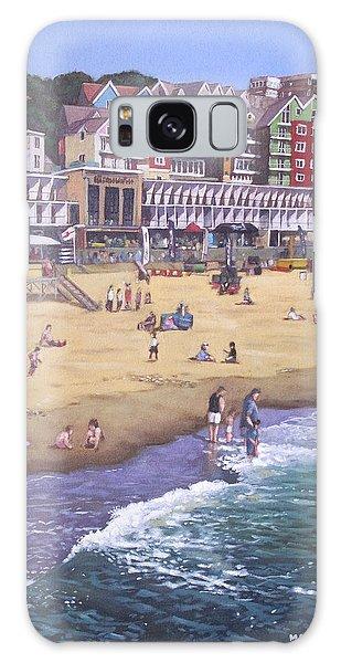 Bournemouth Boscombe Beach Sea Front Galaxy Case by Martin Davey