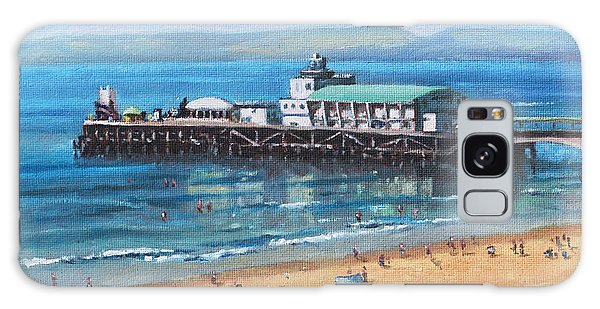 Bournemouth Pier Summer Morning From Cliff Top Galaxy Case