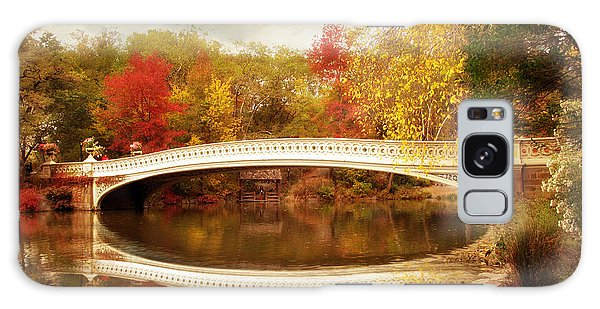 Galaxy Case featuring the photograph Bow Bridge Reflected by Jessica Jenney