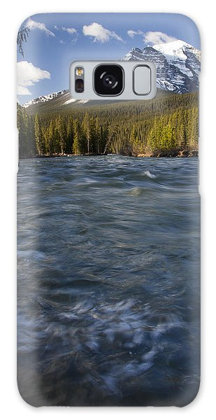 Bow River At Lake Louise Galaxy Case