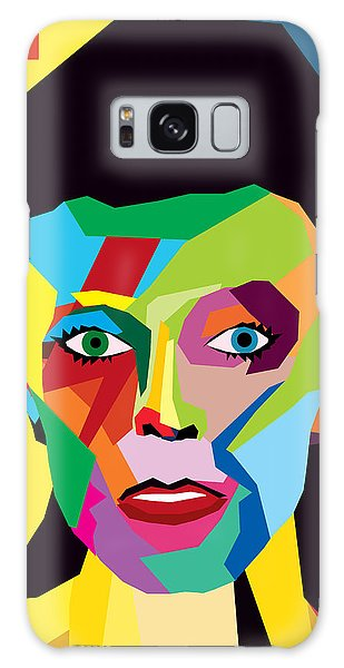 Abstract People Galaxy Case - David Bowie by Mark Ashkenazi