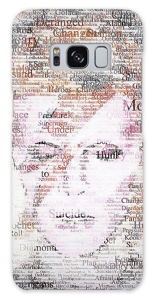Bowie Typo Galaxy Case by Taylan Apukovska