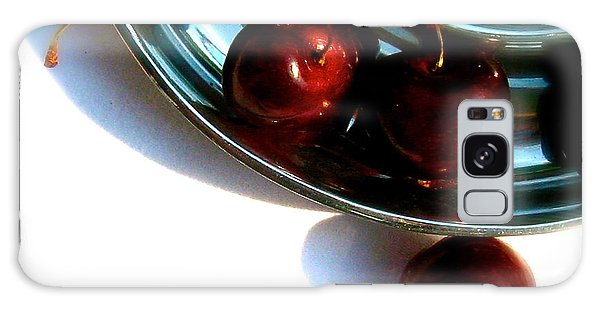 Bowl Of Cherries Galaxy Case by Tracy Male