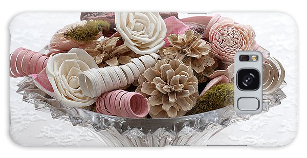 Bowl Of Potpourri On Lace Galaxy Case