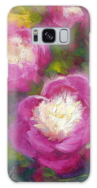 Bowls Of Beauty - Alaskan Peonies Galaxy Case