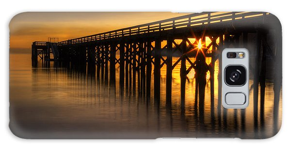 West Bay Galaxy Case - Bowman Bay Pier Sunset by Mark Kiver