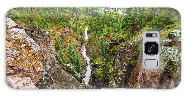 Chasm Galaxy Case - Box Canyon And The Town Of Ouray by Russ Bishop
