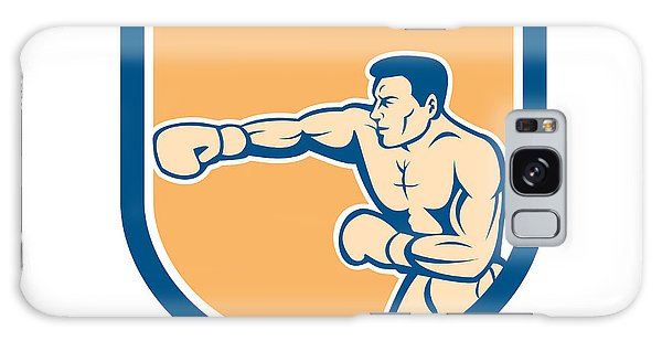 Sportsman Galaxy Case - Boxer Boxing Punching Shield Cartoon by Aloysius Patrimonio