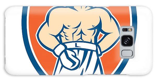 Sportsman Galaxy Case - Boxer Champion Shouting Shield Retro by Aloysius Patrimonio