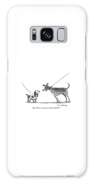 Leash Galaxy Case - Boy, I'd Love To Meet You Sometime Off Leash by Mort Gerberg