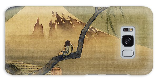 Boy Viewing Mount Fuji Galaxy Case