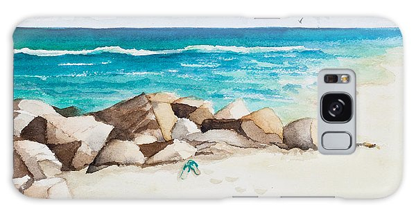 Boynton Beach Inlet Watercolor Galaxy Case