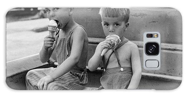Ice Galaxy Case - Boys Eating Ice Cream Cones by John Vachon