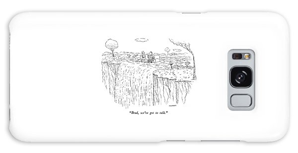 Waterfall Galaxy Case - Brad, We've Got To Talk by Robert Mankoff