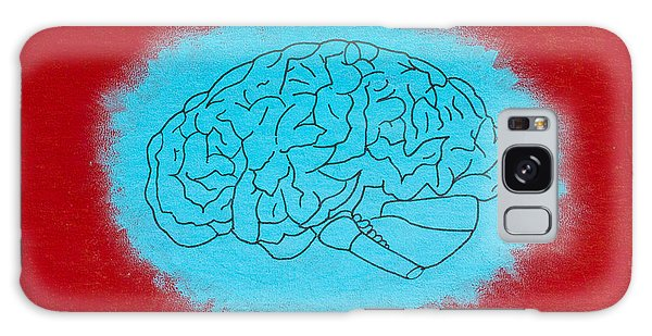 Brain Blue Galaxy Case by Stefanie Forck