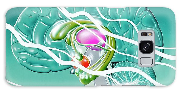 Nervous System Galaxy Case - Brain In Epilepsy by John Bavosi