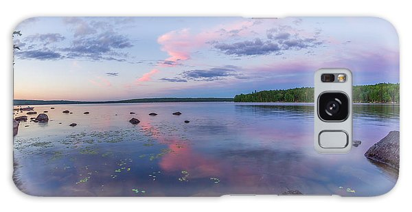 Branch Lake Mirror Sunset Galaxy Case