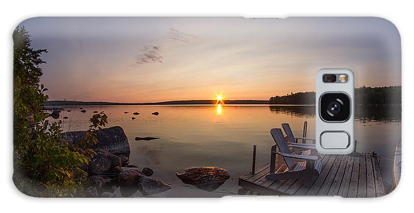 Branch Lake Sunrise In Maine Galaxy Case