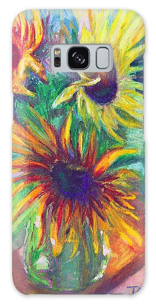 Brandy's Sunflowers - Still Life On Windowsill Galaxy Case