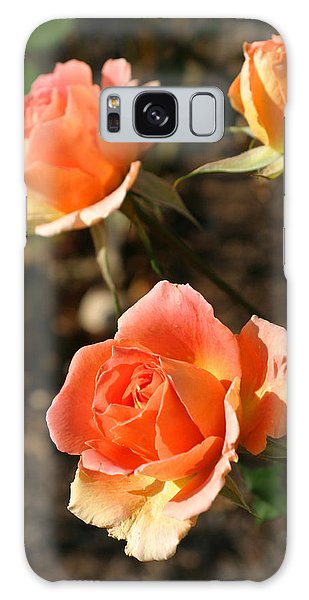 Brass Band Roses In Autumn Galaxy Case by Living Color Photography Lorraine Lynch