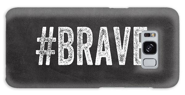 Black And White Art Galaxy Case - Brave Card- Greeting Card by Linda Woods