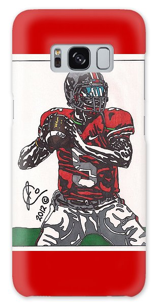 Braxton Miller 1 Galaxy Case by Jeremiah Colley