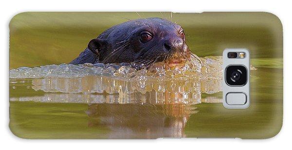 River Otter Galaxy Case - Brazil Giant River Otter (pteronura by Ralph H. Bendjebar