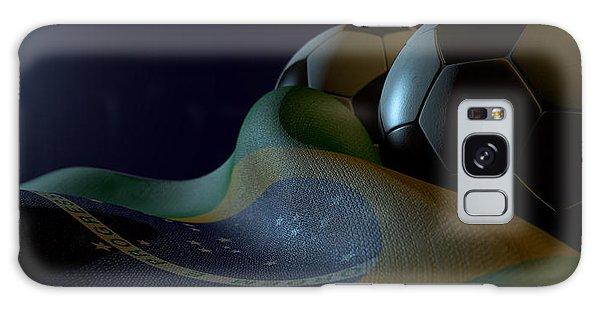 Front Galaxy Case - Brazilian Flag And Soccer Ball by Allan Swart
