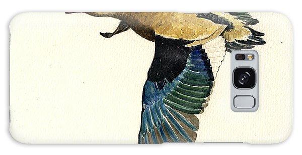 Duck Galaxy Case - Brazilian Teal Or Brazilian Duck Amazonetta Brasiliensis by Juan  Bosco