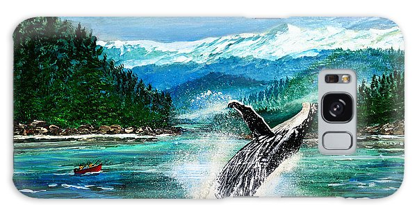 Breaching Humpback Whale Galaxy Case