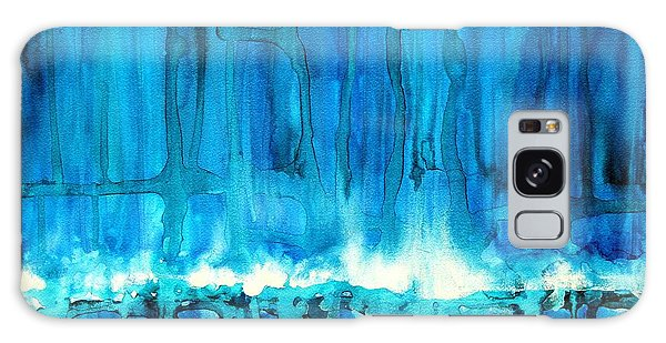 Breakers Off Point Reyes Original Painting Galaxy Case