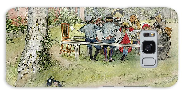 Picnic Table Galaxy Case - Breakfast Under The Big Birch by Carl Larsson