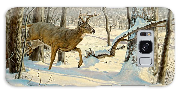 White-tailed Deer Galaxy Case - Breaking Cover-whitetail by Paul Krapf