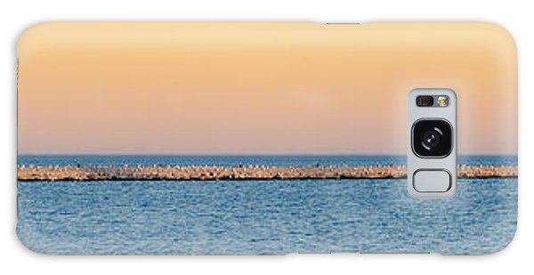 Galaxy Case featuring the photograph Breaking The Sunset by Steven Santamour