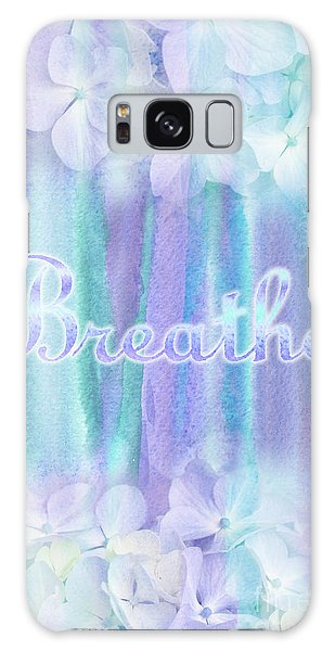 Breathe Refreshing Hydrangea Turquoise Purple Watercolor Galaxy Case