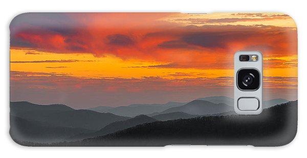 Breathtaking Blue Ridge Sunset Galaxy Case