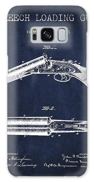Weapons Galaxy Case - Breech Loading Gun Patent Drawing From 1883 - Navy Blue by Aged Pixel
