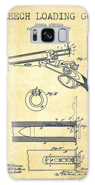 Weapons Galaxy Case - Breech Loading Shotgun Patent Drawing From 1879 - Vintage by Aged Pixel
