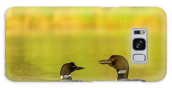 Loon Galaxy S8 Case - Breeding Pair Of Common Loons by Chuck Haney