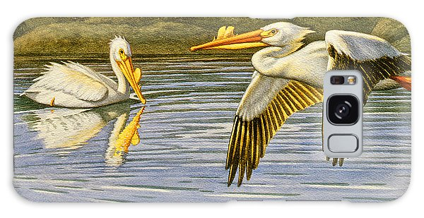 Teton Galaxy Case - Breeding Season- White Pelicans by Paul Krapf