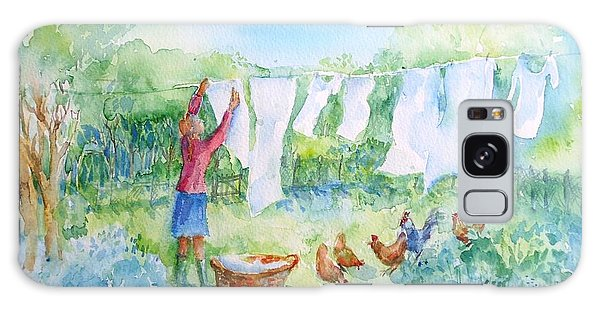Breezy Day  -great Drying Out Galaxy Case by Trudi Doyle