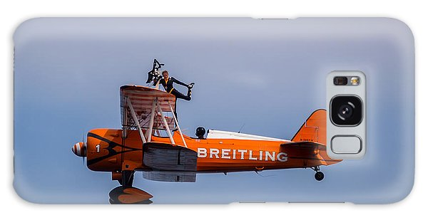 Galaxy Case featuring the photograph Breitling Wingwalker Cockpit Stand by Scott Lyons