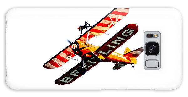 Galaxy Case featuring the photograph Breitling Wingwalker High Contrast Sunderland Air Show 2014 by Scott Lyons