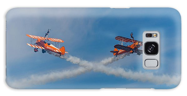 Galaxy Case featuring the photograph Breitling Wingwalkers Cross Sunderland 2014 by Scott Lyons